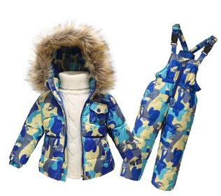 55.00$  Watch here - http://ali52d.shopchina.info/go.php?t=32559905529 - Children Winter Clothing set Boys Ski Suit Girl Down Jacket Coat + Jumpsuit Set 1-6 Years Kids Clothes For Baby Boy/Baby Girl 55.00$ #buyininternet