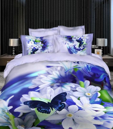 Wholesale Bedding Sets Buy Hot Purple White Butterfly Bedclothes