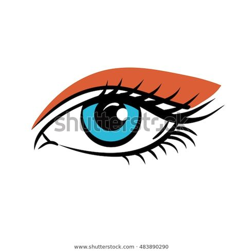 Eye On White Background Eyes Art Stock Vector (Royalty Free