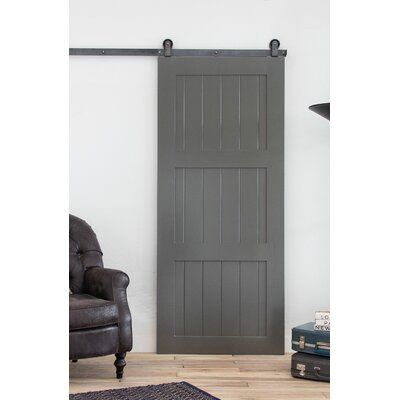 Artisan Hardware Paneled Wood Painted Classic Sliding Barn Door Without Installation Hardware Kit Door Size 90 H X 42 W X 1 5 D Sliding Glass Barn Doors Glass Barn Doors Painting