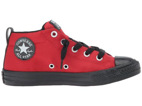 f41446500 Converse Kids Chuck Taylor All Star Street Backpack Mid (Little Kid Big  Kid) Boy s Shoes Casino Black Black