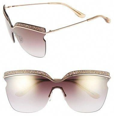 d857bc628 Shop for Women's 67mm Retro Sunglasses - Rose Gold/ Brown Mirror by Jimmy  Choo at ShopStyle. Now for Sold Out.