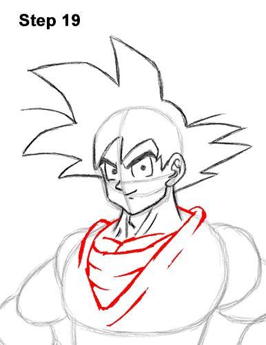 Draw Goku Full Body Dragon Ball 19 Dragon Ball Painting Drawing Templates Goku Drawing