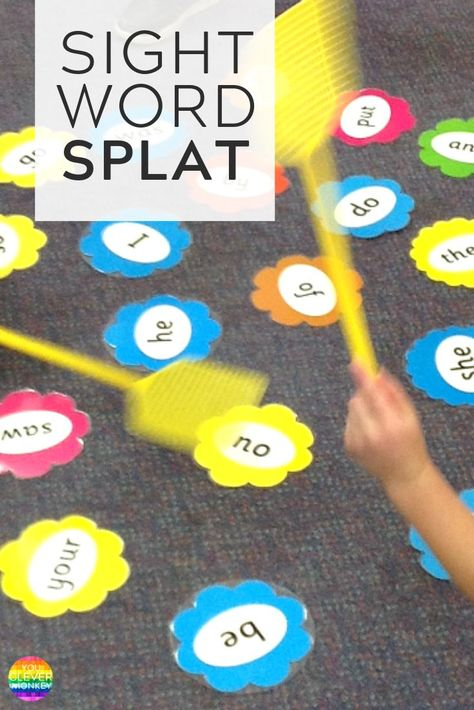 Task Shakti - A Earn Get Problem Make Learning To Read Sight Words More Engaging With This Fun Hands-On Game Of Sight Word Splat You Clever Monkey Literacy Games, Kindergarten Learning, Literacy Centers, Phonics Games, Learn To Read Kindergarten, Kindergarten Sight Word Games, English Kindergarten, Phonics Reading, Kindergarten Lesson Plans