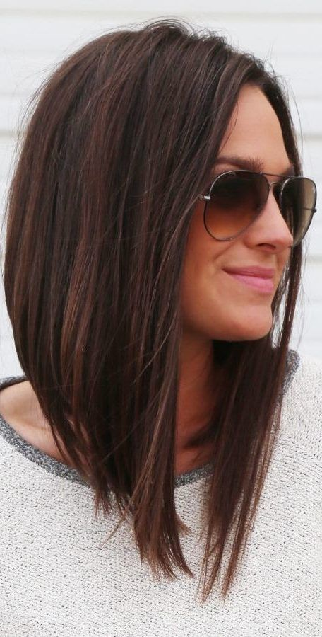 27 Long Bob Haircuts For Thick Hair To Get Inspired 2019 Hair Haircut Haircut Bob Haarschnitt Bob Haarschnitt Fur Dickes Haar Lange Bob Haarschnitte