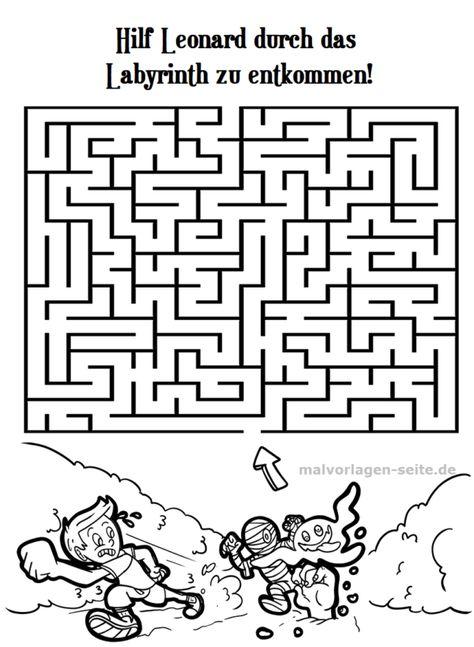 irrgarten labyrinth für kinder  labyrinth irrgarten und