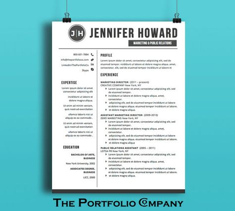 Resume Template CV Template Cover Letter by ThePortfolioCompany - is a cv the same as a resume