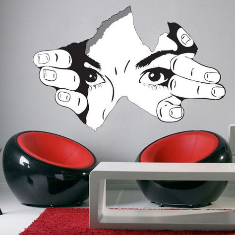 The Observer - Wall Decal for housewares. $69.80, via Etsy.