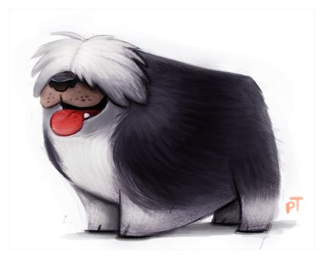 Day 572. Sheepdog by Cryptid-Creations.deviantart.com on @deviantART