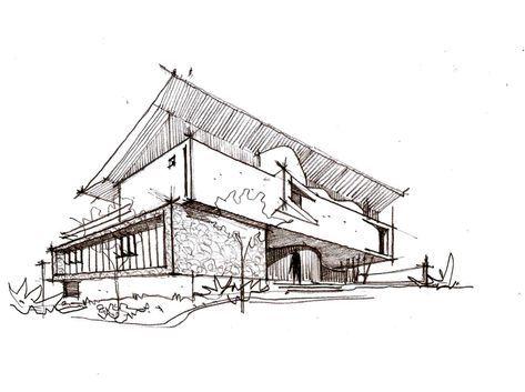 House Architecture Drawing Projects 49 Ideas Di 2020 Sketsa Arsitektur Gambar Perspektif Sketsa