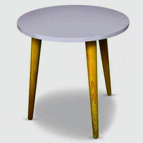 Table Basse Ronde Style Scandinave Typik Blanc 001