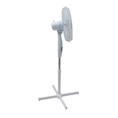 High Living Electric Fan 16 Inch Oscillating Extendable Free Standing Quiet Portable Pedestal Cooling Fan 16 99 Electric Fan Stand Fan Pedestal Stand