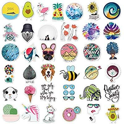 Amazon Com Cute Stickers 105pcs Laptop And Water Bottle Decal