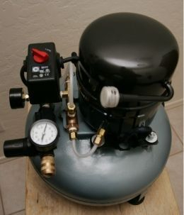 Silent Compressor Homemade Silent Compressor Constructed From
