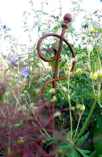 Rosenstab Staudenschmuck Ch Gartendekoration Rosenstab Rosenstabe Kletterhilfe Gartenstecker Rost Deko Garten Gartendekoration Garten