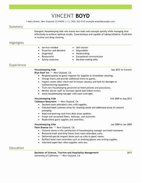 Teacher Aide Resume Example Fresh Hospitality Resume Example Hospitality Resume Sample
