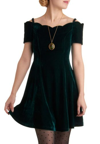 I love this dress from Mod Cloth.  It reminds me of something Clara would wear in The Nutcracker.  It also sort of reminds me of the 90's--the good parts, not the Furbies and primary colors.
