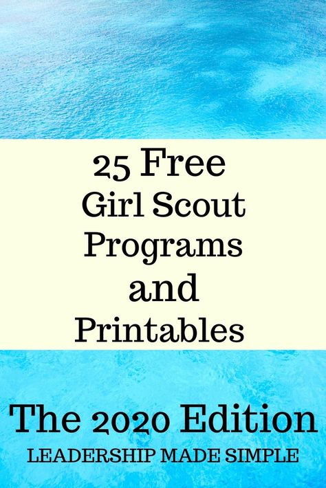 25 Free Girl Scout Programs Friday Freebie List for 2020 – Scout Leader Scout Mom, Girl Scout Swap, Daisy Girl Scouts, Girl Scout Leader, Girl Scout Troop, Girl Scout Daisies, Junior Girl Scout Badges, Girl Scout Juniors, Girl Scout Daisy Activities