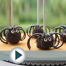 Receta de cake pops de araña para Halloween paso a paso