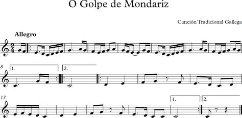 O Golpe de Mondariz. Canción Tradicional Gallega.