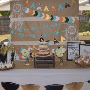 Mint Wild One First Birthday Decorations and Grey TeePee Confetti Navy Teepees Tribal Party Decorations Boy Tribal Birthday Decor