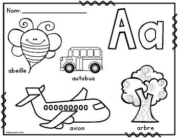 La Lettre Initiale French Alphabet Colouring Posters French Immersion Activities Backtoscho French Alphabet Alphabet Coloring French Learning Activities
