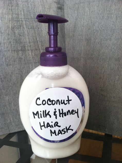 Coconut milk and honey hair mask! For growth and hydration