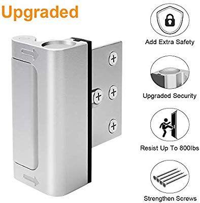 Home Security Door Lock Upgrade Easy Open Childproof Door Reinforcement Lock With 3 Stop Withstand 800 Door Lock Security Security Door Child Proofing Doors