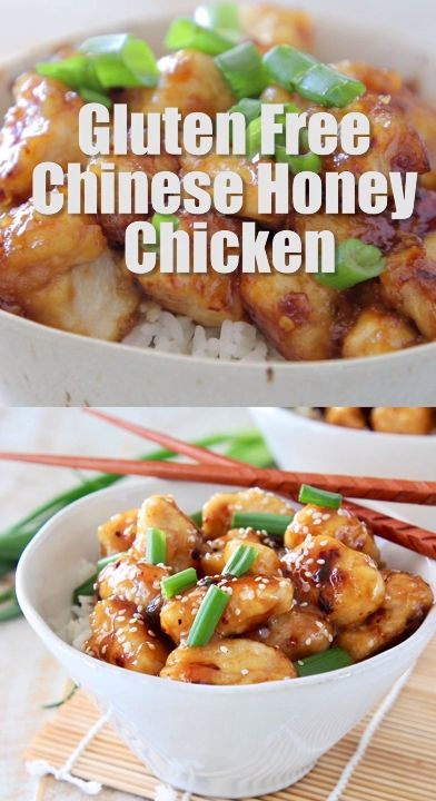 This Chinese Honey Chicken Recipe is healthier and better than takeout. It's easy to make at home in only 29 minutes, and it's one of the best gluten free recipes ever! #glutenfree #dinner #chinese #honeychicken