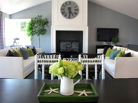 Wohnzimmer Dachschräge Kamin Wanduhr Beistelltisch Home - Living - wanduhren für wohnzimmer