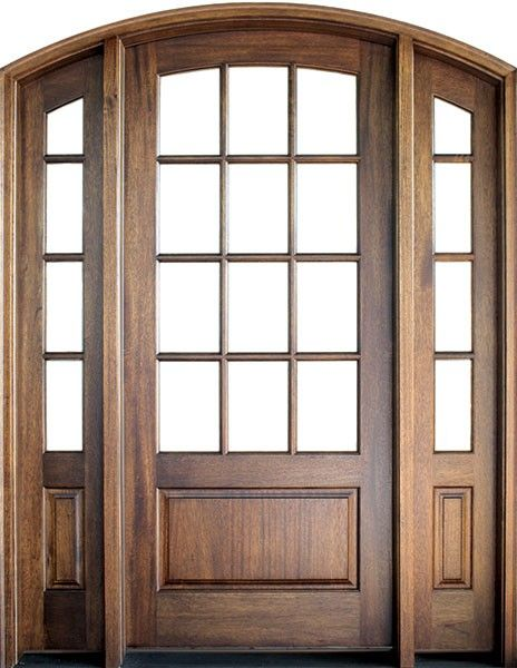 Mahogany Trinity Tdl 12 Lite Single Door 2sidelite Arch Top 2 1 4 Thick Arched Front Door Mahogany Entry Doors Entry Doors
