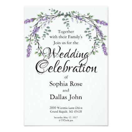 Lavender And Eucalyptus Invitation Zazzle Com Wedding