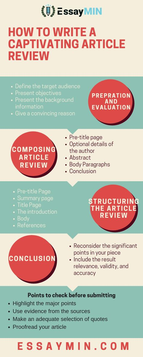 How to write a captivating article review