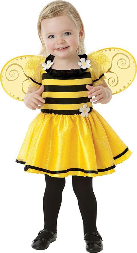 Childrens Bumble Bee Fancy Dress Costume Insetto Ape Vespa VESTITO 1-2 ANNI