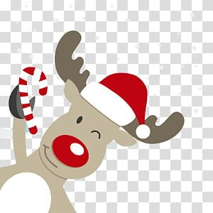 Rudolf The Red Nose Reindeer Art Rudolph Reindeer Santa Claus Christmas Cartoon Deer Material Transpare Cartoon Reindeer Christmas Hat Clipart Christmas Deer