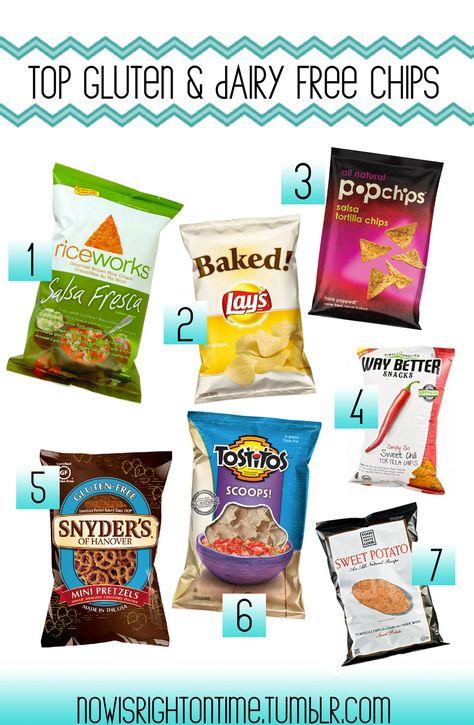 Gluten Free Dairy Free Chip Options www.physicaltherapyinspokane.com www.synergyspokane.com