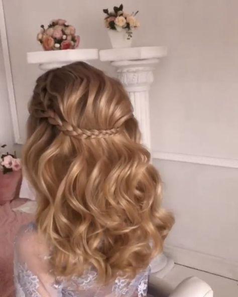 46 Glam Updo Ideas For Long Hair & Tutorials #Glam #Hair #hairstyle #hairstyles #ideas #Long #tutorials #Updo