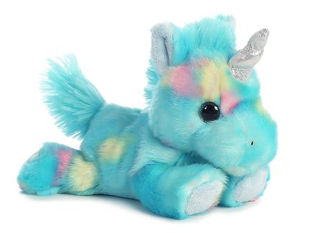 Blueberry Ripple Unicorn Bright Fancies 7 Stuffed Animal by Aurora Plush 16701 for sale online