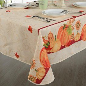 Violet Linen European Fall Harvest Pumpkins And Autumn Leaves Printed Tablecloth Walmart Com Christmas Table Cloth Table Cloth Tablecloth Fabric