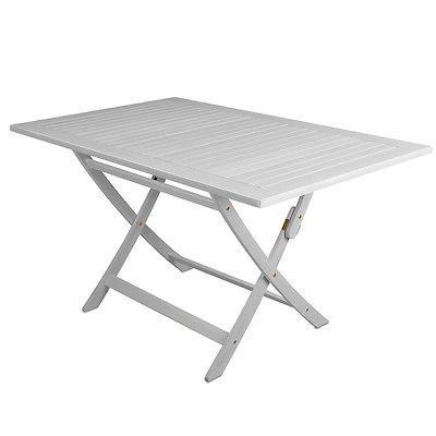 Elegant Tisch Sydney wei Akazie Gartenm bel Holz Esstisch Garten Klapptisch Gartentischsparen sparen de