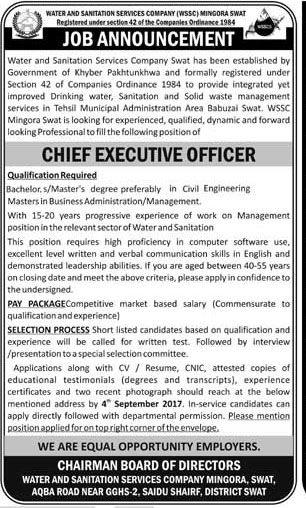High Court Swat Jobs Jobs In Pakistan Pinterest Swat - chief executive officer job description