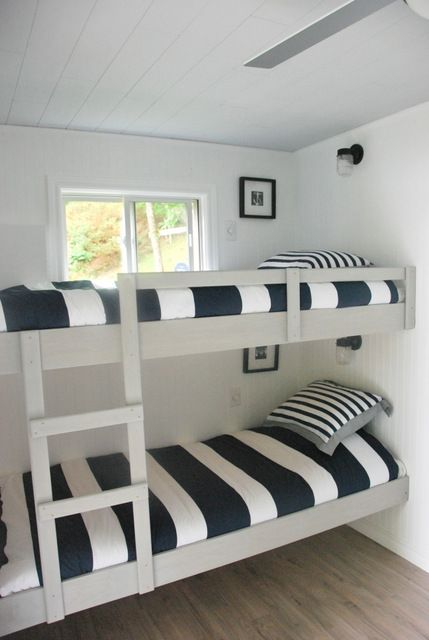 a nautical bunkie makeover reveal!