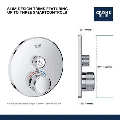 Grohe America Inc 29 136 Grohtherm Single Function Thermostatic