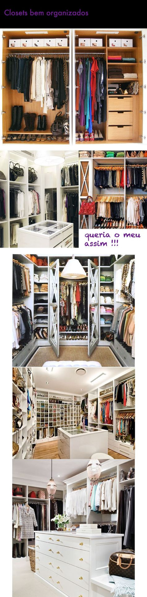 Arrumação de armários