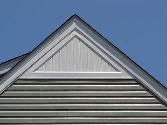 Vertical Soffit Gable Vent Gable Vents House Siding House Front