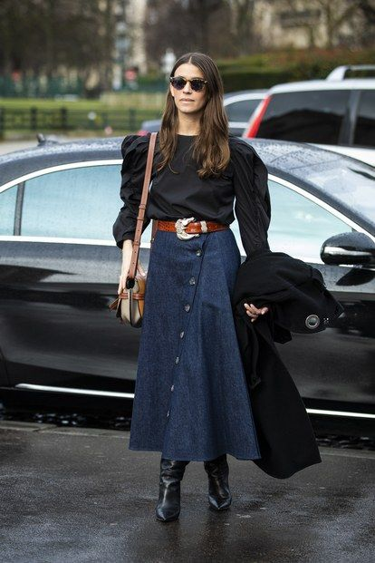 Street style 12 denim trends spotted outside the Fall