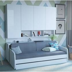 Kimsey Queen Storage Murphy Bed With Mattress | Murphy Bed Ikea, Murphy Bed, Horizontal Murphy Bed