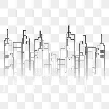 Blue Effect City Line Upper Line Outline Line Buildings Png And Vector With Transparent Background For Free Download Graphic Design Background Templates Black Background Images Blur Image Background