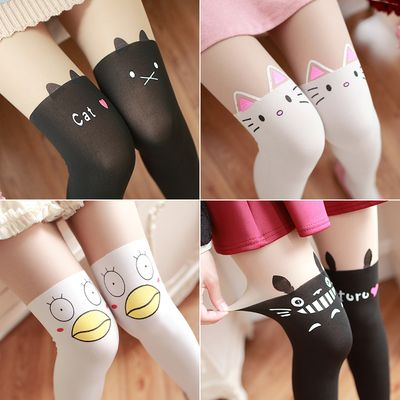 Cheap high stockings, Buy Quality false high stocking directly from China stockings cute Suppliers: Cartoon Printing False High Stockings Cute Jfashion Girls Teens Stockings Spring Summer Pantyhose Harajuku Totoro Anime Leggings