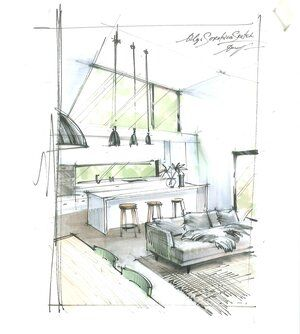 What Is Perspective In Drawing Perspective Basics For Interior Designers Olgaart888 In 2020 Interior Design Drawings Interior Architecture Drawing Portfolio Design